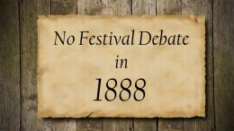No festival debate in 1888